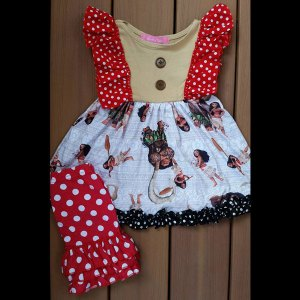 Red & Tan Moana Dress & Short Set