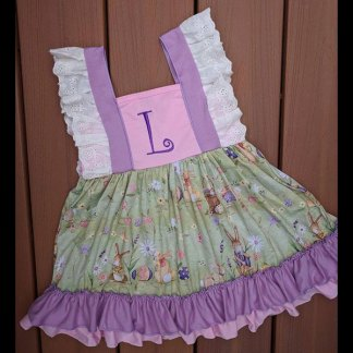 Purple & Pink Easter Bunny Dress