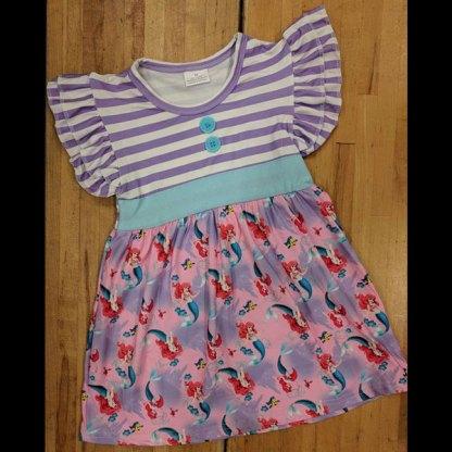 Purple Striped Ariel Dress Snotty Tots