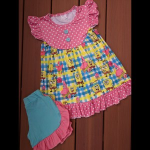 Sponge Bob Dress & Shorts Set
