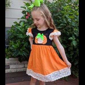 Black & Orange Pumpkin Dress