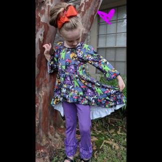 Nightmare High-Low Tunic & Purple Legging Set