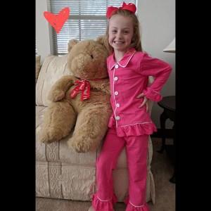 Hot Pink Knit PJs