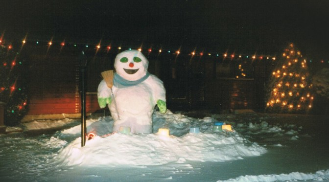 "A ""Frosty"" Snow Man!"