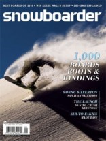 Snowboarder Magazine's September 2009 Cover