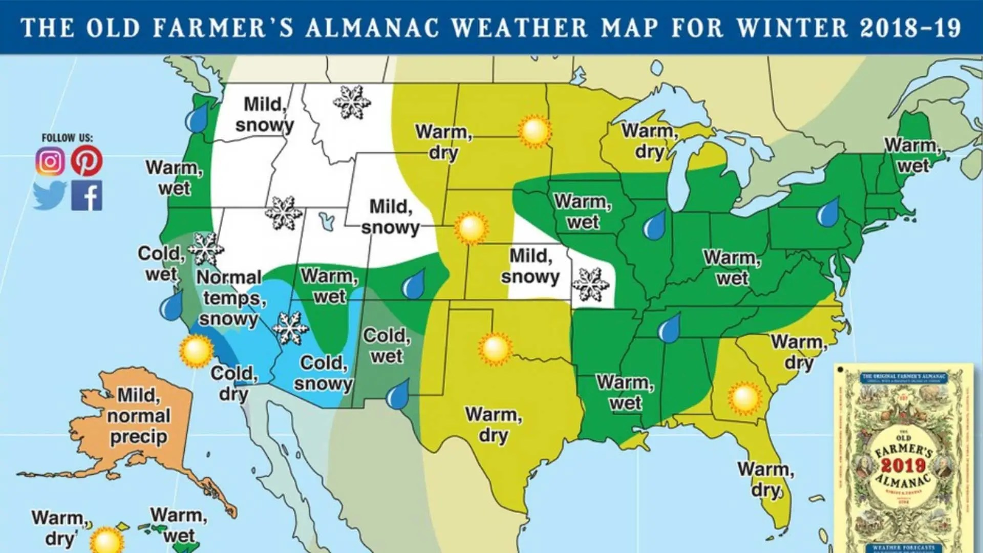 2019 Winter Weather Forecast For United States And Canadaold - Weather-forecast-us-map