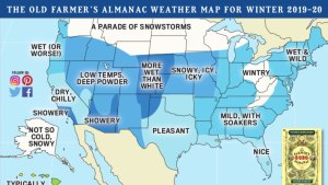 Old Farmer's Almanac Winter Weather Forecast 2020: United States