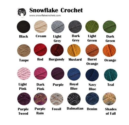 Snowflake Crochet Color Chart