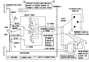Fisher plow light schematic needed  Ford Truck
