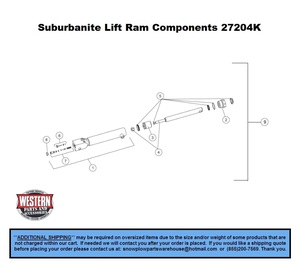 Straight Blade  UltraMount  Part Diagrams  Western  Suburbanite  Snowplow Parts Warehouse