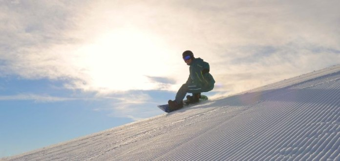 Snowboarder in Serfaus