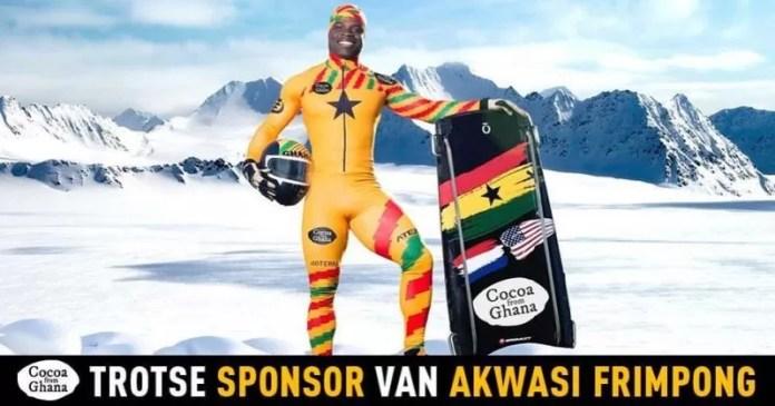 Akwasi Frimpong, Ghanees met Nederlandse vlag op zijn slee