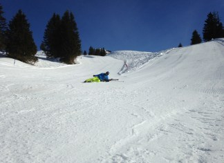 Tips and tricks, als je valt met ski's