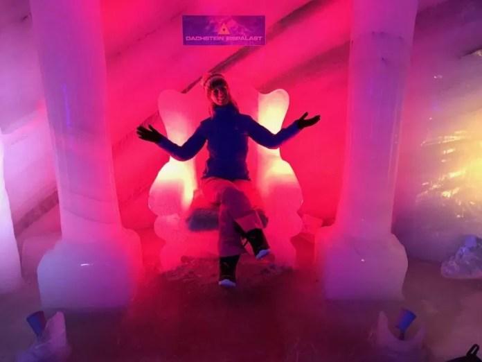 In het ijspaleis!