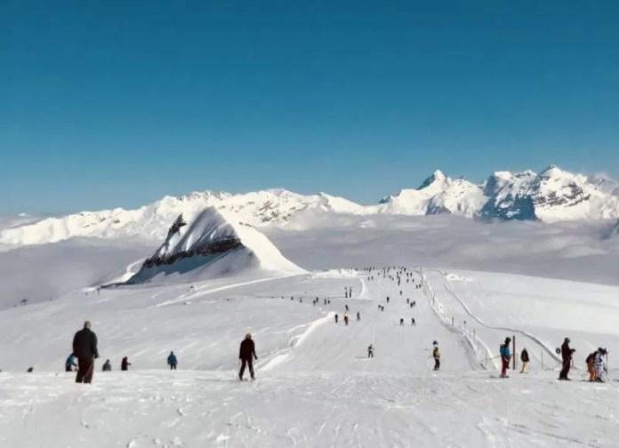 Startpunt vanaf Les Grandes Platieres op 2480 meter
