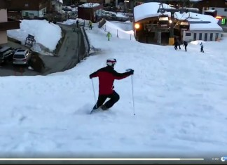 Dronken skiër