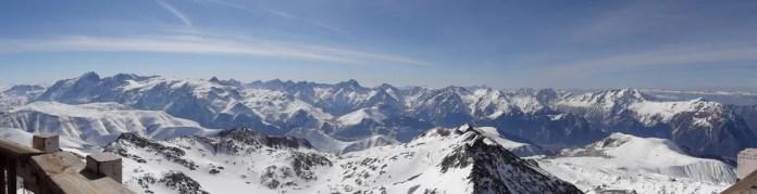 Panoramisch uitzicht vanaf de Pic Blanc