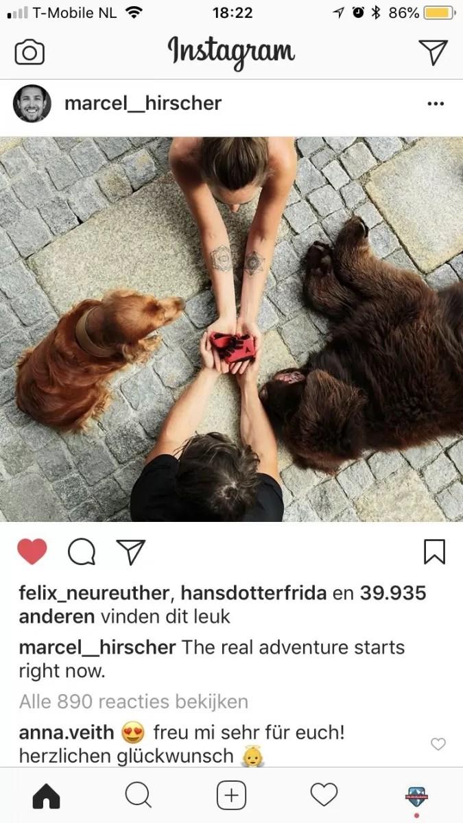 Marcel Hirscher en Laura Maeusl krijgen een kind