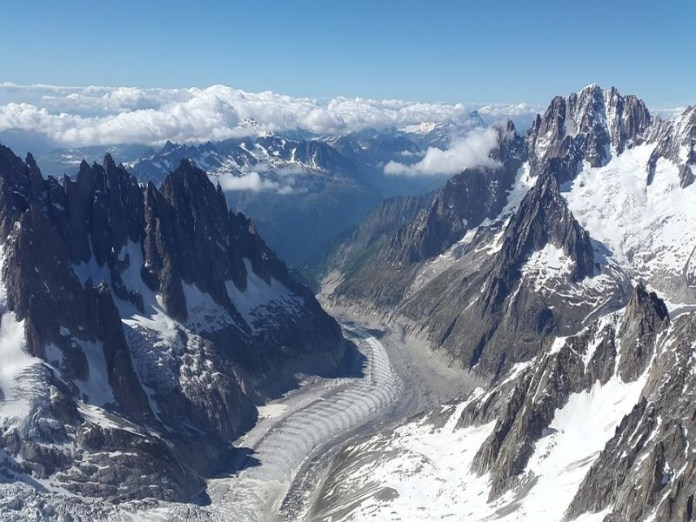 Mer du glace gletsjer