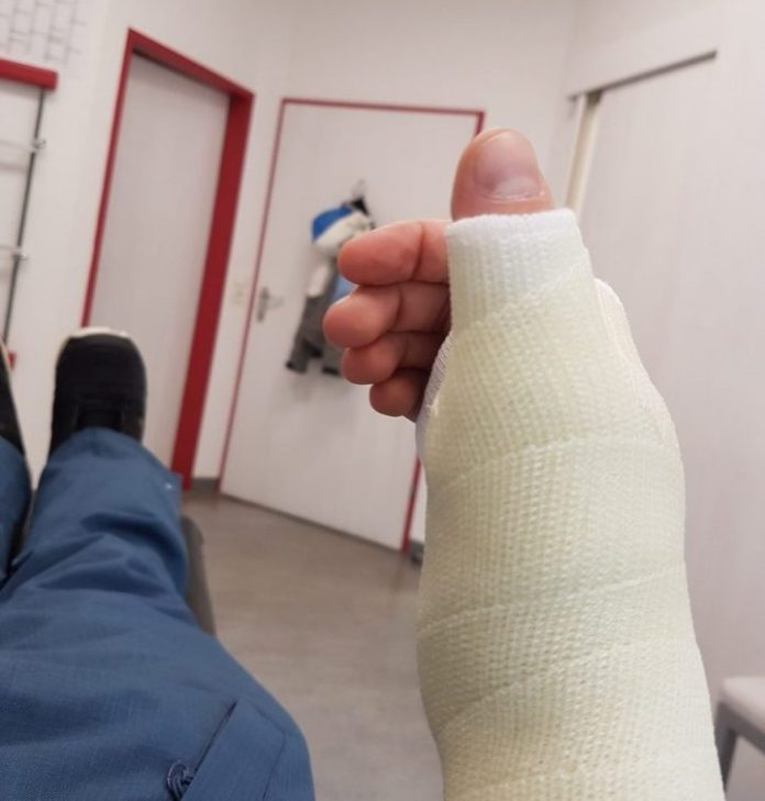 Arm Gips Wintersport