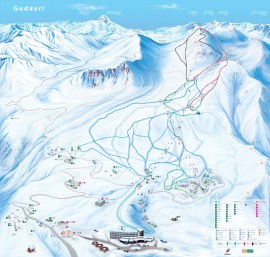 Ski map Georgië