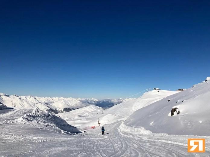 Een prachtige zonnige dag in Les Menuires