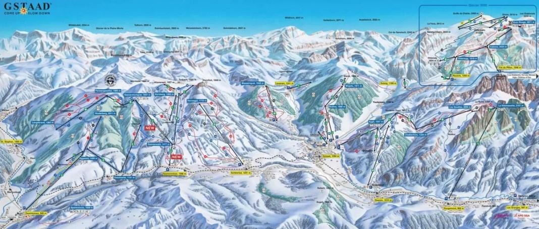 Pistekaart Gstaad