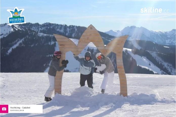 Een van de drie Selfies: Hochkönig (ski amadé)