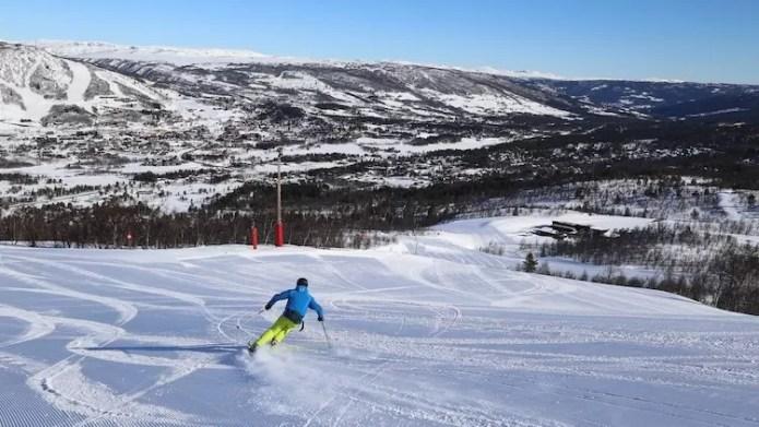 Rustige pistes in Geilo.Noorwegen