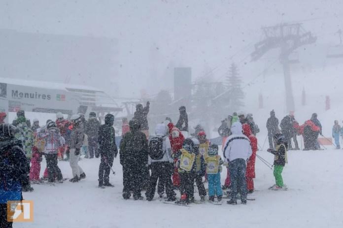 Live uit Les Menuires: een ware sneeuwstorm