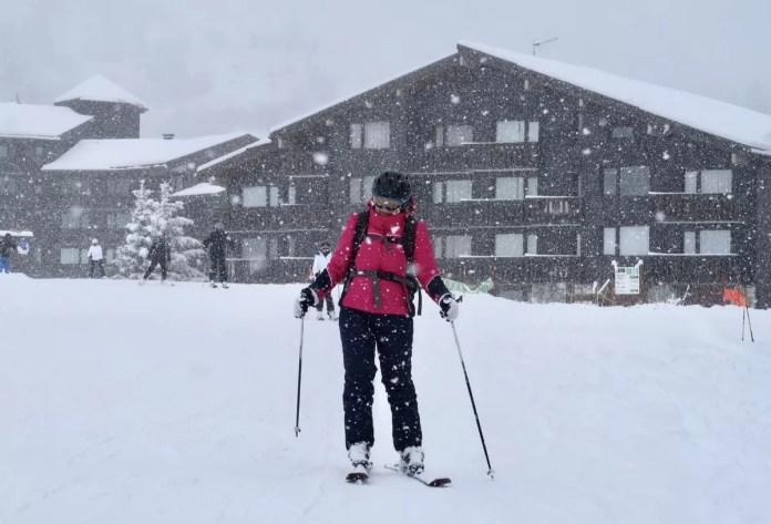 Sneeuwdump Les Menuires 4 april 2019