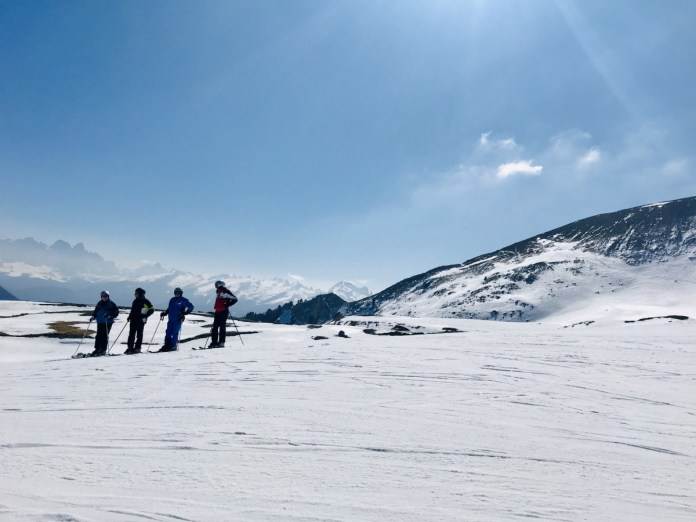 Skiën in Obereggen / Latemar met werkelijk perfecte sneeuw