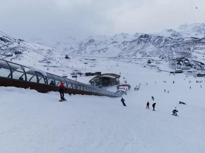 Val thorens opening storm sneeuw
