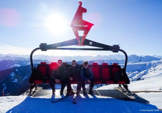 Wintersporten met vrienden in Kirchberg.