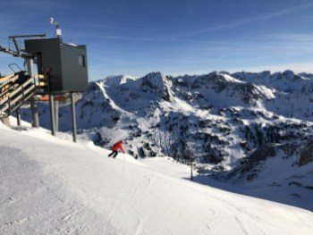 Downhill van de Gamsleiten in Obertauern. Fotocredits: Peter de Vries