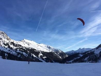 Snowkiting in Obertauern. Fotocredits: Peter de Vries