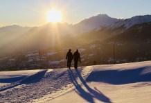 Zonsondergang in Crans-Montana. Foto: Pauline van der Waal