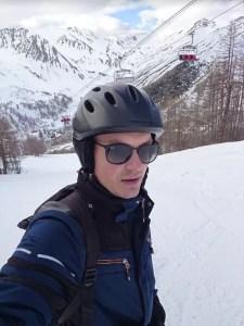 Bryan in de sneeuw! Kort maar krachtig dit jaar.