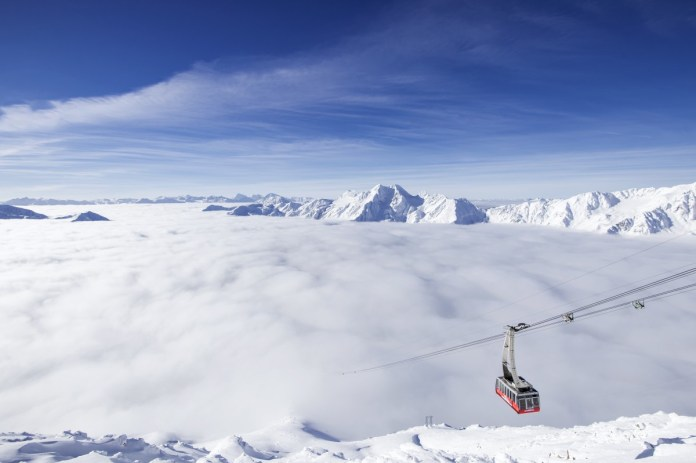 Boven de wolken schijnt de zon. ©Schnalstaler Gletscherbahn Alex Filz
