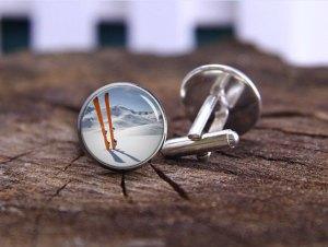 ski cufflinks
