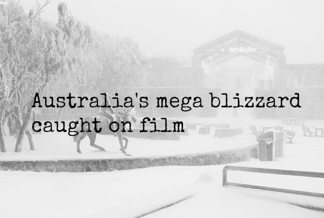 Photos of the mega blizzard in Australia