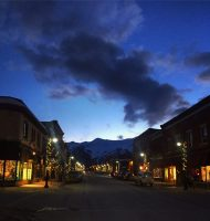 A night in the town of Fernie
