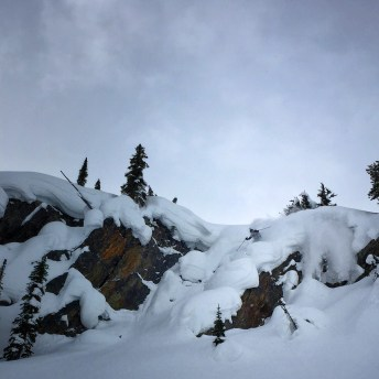 Nat Segal dropping into some pillow goodness, Rogers Pass. Photo: Jarred Martin