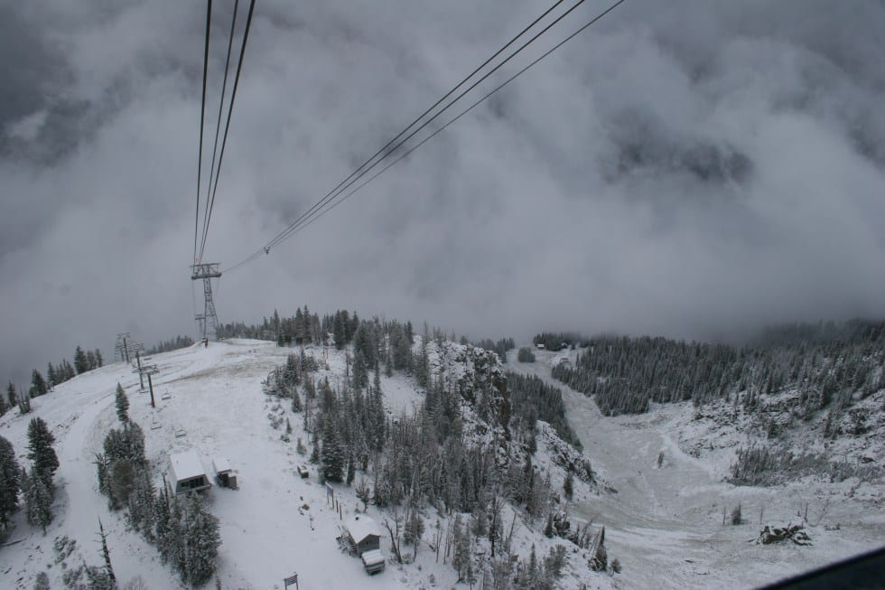 It's snowing at Jackson Hole!
