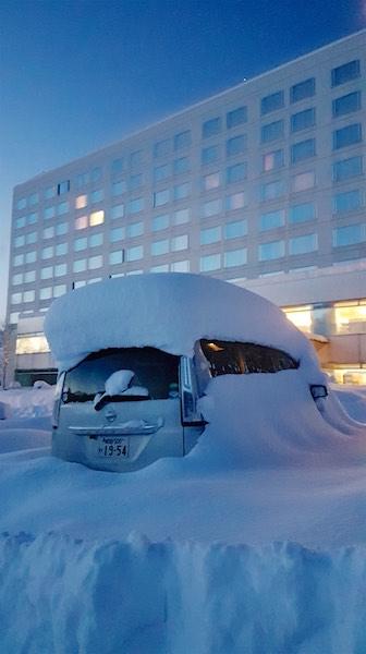 Overnight snowfall at Prince Hotel Shizukuishi Japan. Photo by Chris Hocking