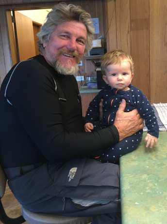 Oliver Saurine with another guest at Yalara Alpine Ski Lodge