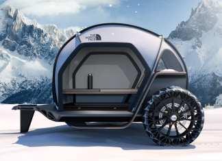 bmw designworks x the north face futurelight camper hero
