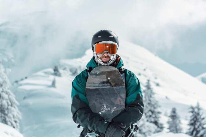 snowboarder helmet
