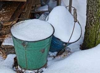 buckets of snow