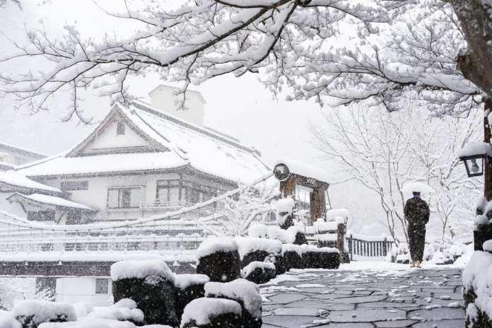 japan snow village